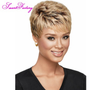 SmartFactory Women Natural Permanent Human Hair Wigs for Usual Life