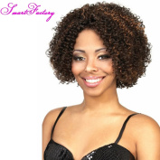 SmartFactory Short Hair Lace Front Wig Silk Top For Black Wowen