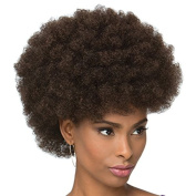 Black Brown Capless Fluffy Afro Curly Short Heat Resistant Fibre Wig For Black Women