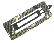 French Amie Rectangular Opera Small Celluloid Handmade Metal Free Hair Clip Barrette for Girls