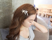 STEVE YIWU® 2Pcs Hot Fashion Boho Beautiful Lady Girl Starfish Sea Star Hair Clip Accessories