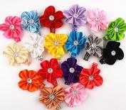 18pcs 5.1cm Boutique Hair Flower Girls Kids Children Alligator Clip Hair Clips 18 Colour
