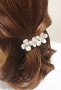 STEVE YIWU® New Fashion Flower With Rhinestone Crystal Hair Clip Barrette Hairpin Accessories Gift