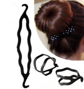 10pc Simple Magic Hair Styling Tool Hair Bun Maker Twist Women Gril Accessories Plastic Magic Bun Maker Curler Hair Holder