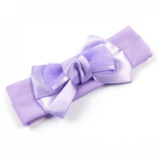 Uxcell Two Layers Bowknot Detail Elastic Headdress Ponytail Holder, Purple, 0kg