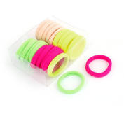 Uxcell 20 Piece Elastic Girls Ponytail Holders Hair Band Decor, Four Colours, 0.1kg
