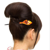 Acrylic 3D Leaves Hair Stick with Pearls
