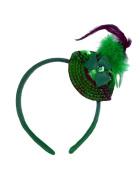 St. Patrick's Day Sequin Shamrock Mini Hat Headband