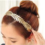 STEVE YIWU® New Vintage Girl's Floral Headwear Bright Luxury Leaves Barrette Hair Band Hoop Accessory Gift
