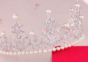 STEVE YIWU® 1Pc Bride Bridal Wedding Pearl Crown Hair Head Band Hot Crystal Tiara Accessory Headband Headdress