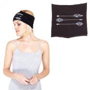 Spirit Arrow Organic Organic Cotton Active Headband-Black-One Size