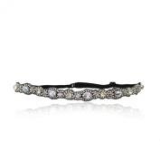 White Rhinestone Wedding Headband, Bridal, Crystal, Thin Rhinestone Diamond, Headband, Adjustable Non-slip Comfortable for Wedding