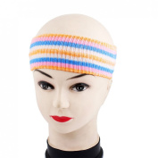 Uxcell Acrylic Stripe Printed Lady Spa Salon Headband Hair Band, Coloured, 0kg