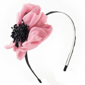 Uxcell Woman Stamen Flower Accent Side Metal Hairband Ornament, Black Pink, 0kg
