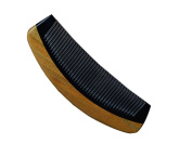 Angela Star Hair Side Horn Comb With Nature Sandalwood Handle Contrast Colour Comb
