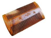 Angela Star Natural Double Sides Sandwood Fine Tooth Brush Hair Comb Handmade Pocket Beard Comb
