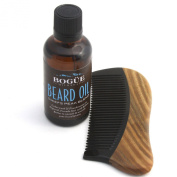 "Bogue Milk Soap-Beard Oil-""Chiefs Peak Blend"" & Sandalwood Comb- Cedarwood, Frankincense, Rosemary with Argan, Avocado, Vitamin E and Pumpkinseed Oils to Smooth and Nourish Your Beard and Skin. 50ml"