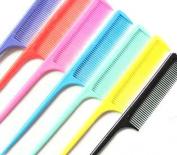 10 Pcs Mix Colour Hand Plastic Fringe Bangs Hair Brush Tail Comb Salon DIY