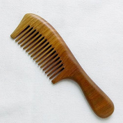 Shintop Sandalwood Comb - Handmade Natural Green Sandalwood Hair Comb with Handle Anti Static 19.5cm / 7.67 Inches