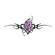 Gem Body Art Tattoo- Hip Sagittarius Butterfly