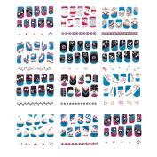 12-pack 3d Nail Art Stickers Decals 3d Glitter Sparkling Nail Art Decal Stickers for Cellphones & Nails