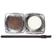 The All Natural Face Vegan Cruelty Free Eyebrow Powder, Brow Wax, and Mini Brush Set Dark Brown
