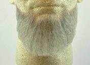 Rubies Full Chin Beard LIGHT GREY - no. 2023 - REALISTIC! 100% Human Hair