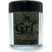 Grl Cosmetics Cosmetic Glitter Makeup for Face, Eyes, Lips, Nails and Body - GL68 Black Jewels, 12 Gramme Jar