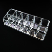 Beauty Acrylic Cosmetic Organiser 12 Lipstick Holder 1030