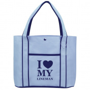 Fashion Tote Bag Shopping Beach Purse I Love Heart My Lineman