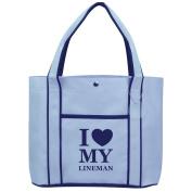 Fashion Tote Bag Shopping Beach Purse I Love Heart My Lineman
