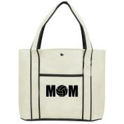 Fashion Tote Bag Shopping Beach Purse MOM Volleyball