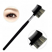 Pro Eyebrow Eyelash Dual-Comb Extension Brush/Cosmetic Makeup Beauty Tool