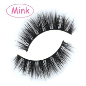 MY-014 luxurious 100% Real Mink 3D Natural Cross Thick False eyelashes fake eye lashes makeup