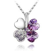 Keepyonger® 4 Colour Fashion Love's Lucky Leaf Girl Pendant Choker Necklace