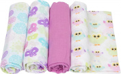 Miracle Blanket MiracleWare Muslin Swaddle Blanket, Colour Burts Collection, 4 Pack