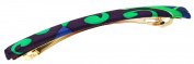 L. Erickson USA Long and Skinny Barrette - Cipriani Green