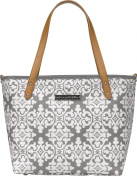 Infant Petunia Pickle Bottom 'Downtown Mini' Coated Canvas Nappy Tote - Grey
