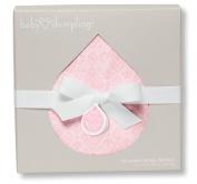 Baby Dumpling Jacquard Muslin Swaddle Blanket, Pink Diamonds, 90cm x 90cm