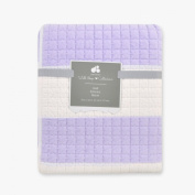Just Born 100% Cotton Nursery Quilt with Awning Stripe, Lilac