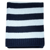 Blue Nautical Stripe Chenille Blanket