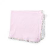 Ralph Lauren Infant Girls Reversible Striped Pink Blanket