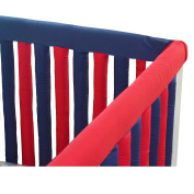 Go Mama Go Designs' Set of Navy & Red 80cm x 30cm Reversible Teething Guard