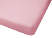 100% Cotton Jersey Knit Fitted Portable Crib Sheet - Pink