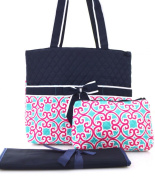 Ngil Southern Print Quilted Nappy Bag