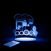Train Night Light, LED 12 colours with interactive remote