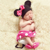 Coco & de Photography Prop Baby Costume Cute Crochet Knitted Hat Cap Girl Boy Nappy Shoes Mouse