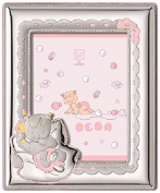 Silver Touch USA Sterling Silver Picture Frame Nap Time, Pink, 8.9cm x 13cm