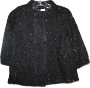 baby Gap Toddler Girl's Black Boucle' Coat with Metallic Specks