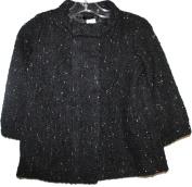 baby Gap Toddler Girl's Black Boucle' Coat with Metallic Specks